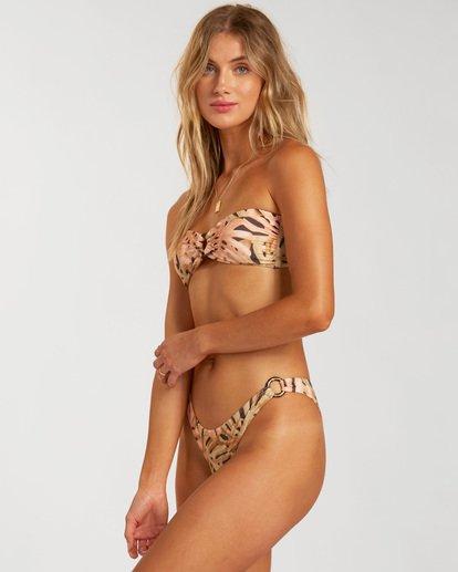 2 Hula Palm Bandeau Bikini Top Grey ABJX300214 Billabong