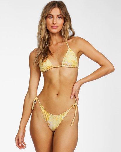 0 Make You Mine Slide Triangle Bikini Top Yellow ABJX300231 Billabong