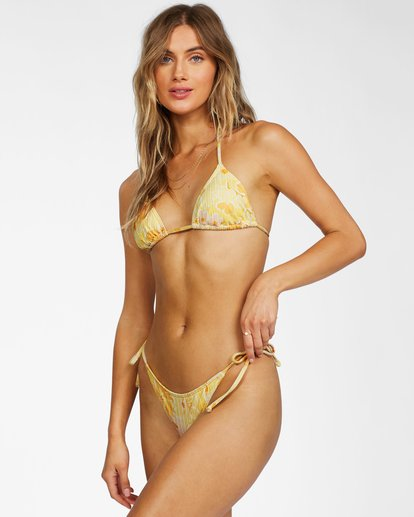 1 Make You Mine Slide Triangle Bikini Top Yellow ABJX300231 Billabong