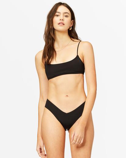 1 Sol Searcher Skinny Mini Crop Bikini Top Black ABJX300236 Billabong