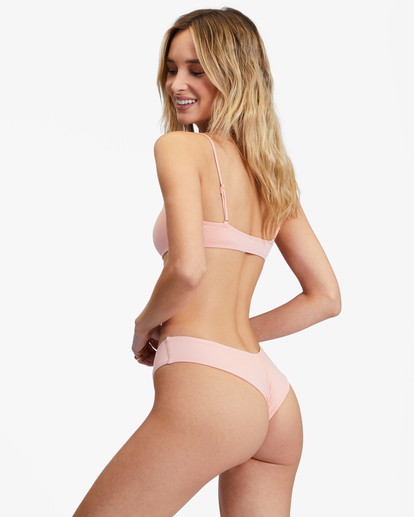 2 Sol Searcher Skinny Mini Crop Bikini Top Green ABJX300236 Billabong