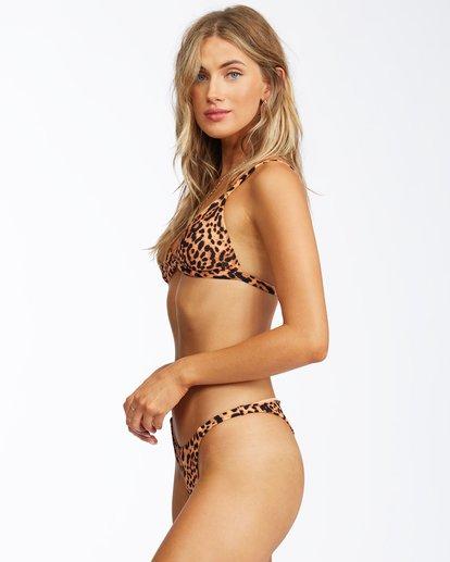 1 Hidden Wild Thin Band Triangle Bikini Top Grey ABJX300267 Billabong