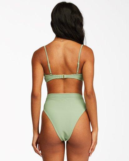 2 Tanlines Skinny Mini Crop Bikini Top Green ABJX300292 Billabong