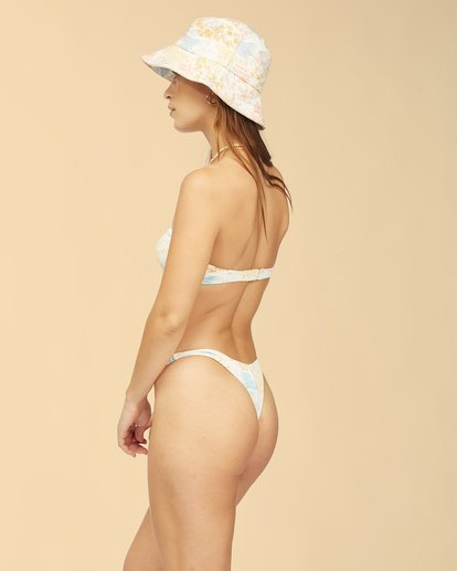 3 Wrangler Western Shore Lulu Bandeau Bikini Top White ABJX300316 Billabong