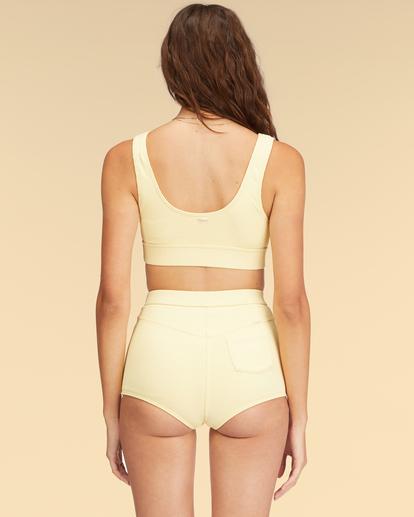 2 Wrangler Face The Sun Banded Tank Bikini Top Yellow ABJX300317 Billabong