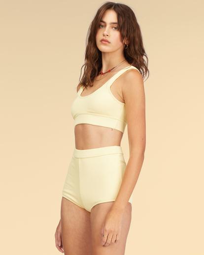 1 Wrangler Face The Sun Banded Tank Bikini Top Yellow ABJX300317 Billabong