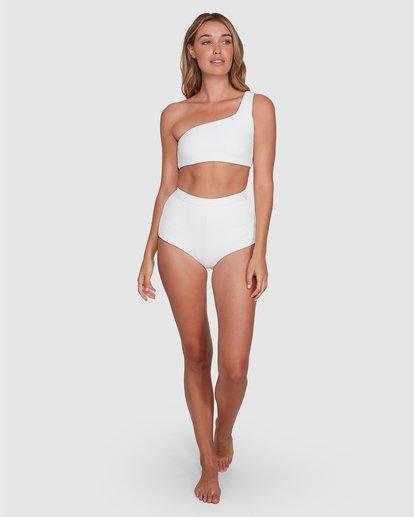 5 Tanlines One Shoulder Crop Bikini Top White ABJX300331 Billabong