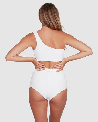 3 Tanlines One Shoulder Crop Bikini Top White ABJX300331 Billabong