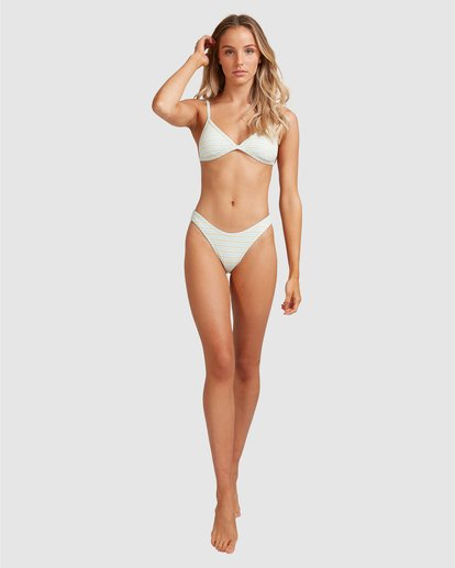 10 Broadwalk Ivy Fixed Tri Bikini Top Blue ABJX300334 Billabong
