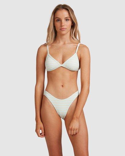 3 Broadwalk Ivy Fixed Tri Bikini Top Blue ABJX300334 Billabong