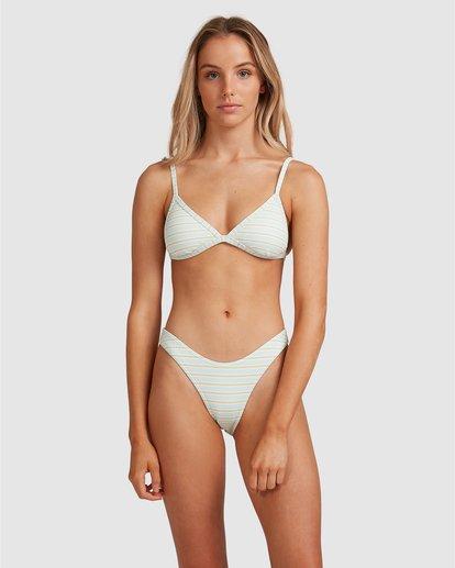 5 Broadwalk Ivy Fixed Tri Bikini Top Blue ABJX300334 Billabong