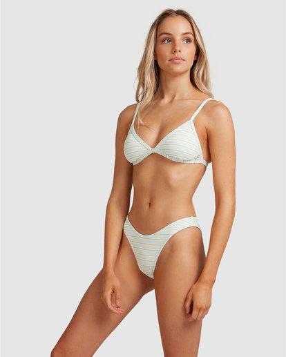 6 Broadwalk Ivy Fixed Tri Bikini Top Blue ABJX300334 Billabong