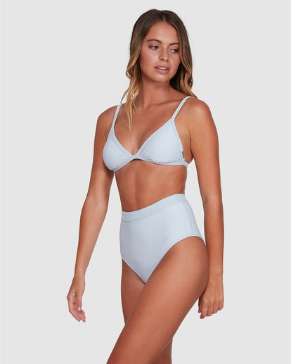 1 Marina Ivy Tri Bikini Top White ABJX300343 Billabong