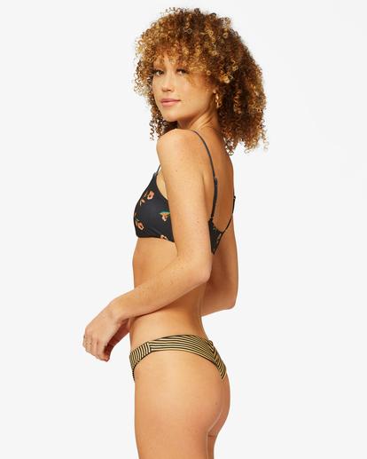 1 Golden Shore Reversible Skinny Mini Crop Bikini Top Black ABJX300365 Billabong