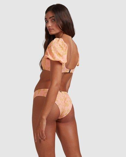 4 Summer Sun Puffed Sleeve Bikini Top Orange ABJX300397 Billabong