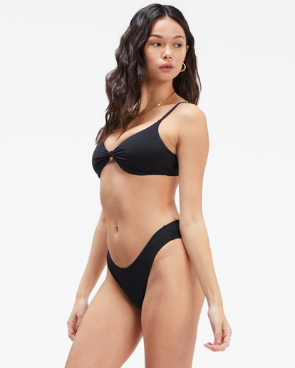 1 Sol Searcher Knotted Trilet Bikini Top Black ABJX300403 Billabong