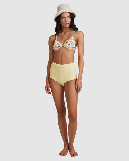 5 Hula Moon Ivy Triangle Bikini Top White ABJX300470 Billabong