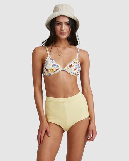 3 Hula Moon Ivy Triangle Bikini Top White ABJX300470 Billabong