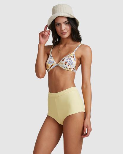1 Hula Moon Ivy Triangle Bikini Top White ABJX300470 Billabong