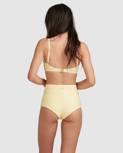 2 Tanlines DD Vintage Bralette Bikini Top Yellow ABJX300477 Billabong