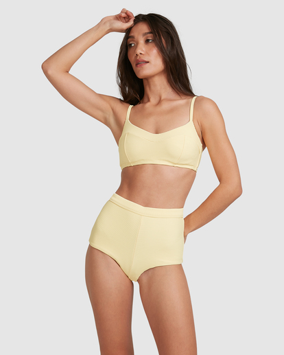 3 Tanlines DD Vintage Bralette Bikini Top Yellow ABJX300477 Billabong