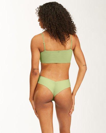 2 Sol Searcher Bandeau Bikini Top Green ABJX300481 Billabong
