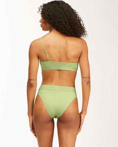3 Sol Searcher One Shoulder Bikini Top Green ABJX300482 Billabong