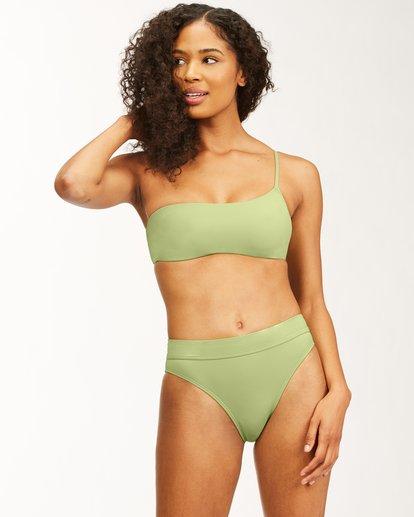 1 Sol Searcher One Shoulder Bikini Top Green ABJX300482 Billabong