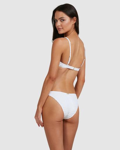 5 Wave Check Charlie Trilette Bikini Top White ABJX300500 Billabong