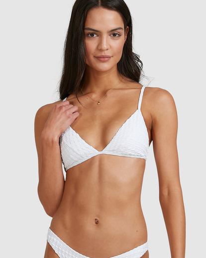 7 Wave Check Charlie Trilette Bikini Top White ABJX300500 Billabong