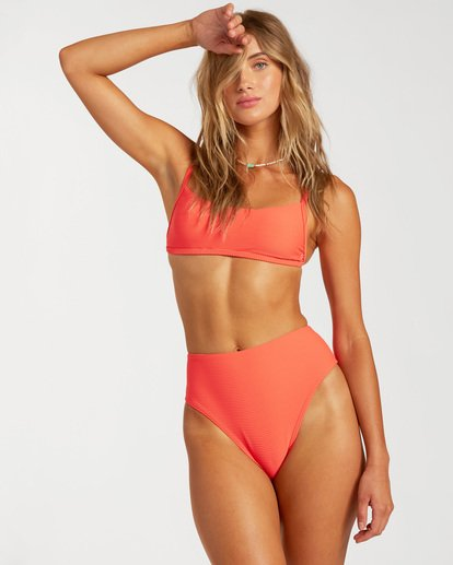 2 Tanlines High Maui Rider Bikini Bottom Orange ABJX400140 Billabong
