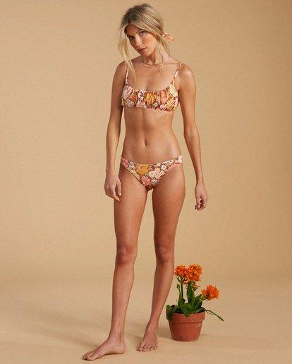 3 Salty Blonde Back Then Lowrider Bikini Bottom Grey ABJX400193 Billabong