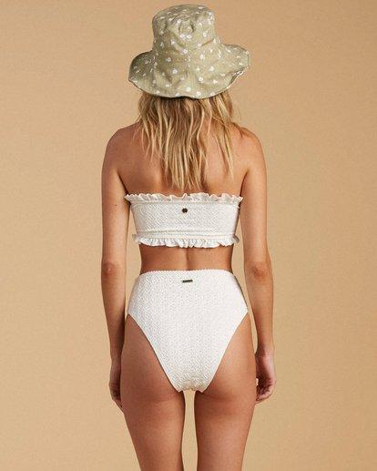 1 Salty Blonde By The Seashore High Maui Bikini Bottom White ABJX400203 Billabong