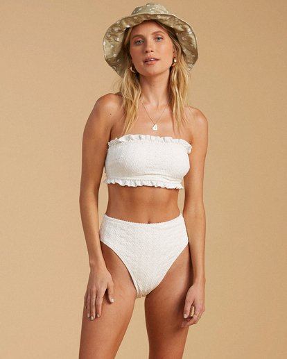 3 Salty Blonde By The Seashore High Maui Bikini Bottom White ABJX400203 Billabong