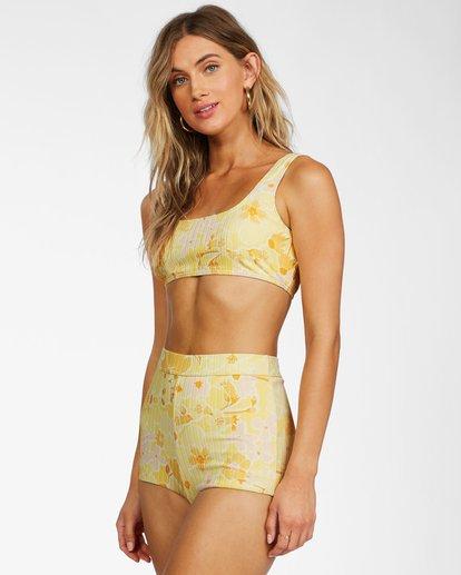 1 Make You Mine Surf Short Bikini Bottom Yellow ABJX400240 Billabong