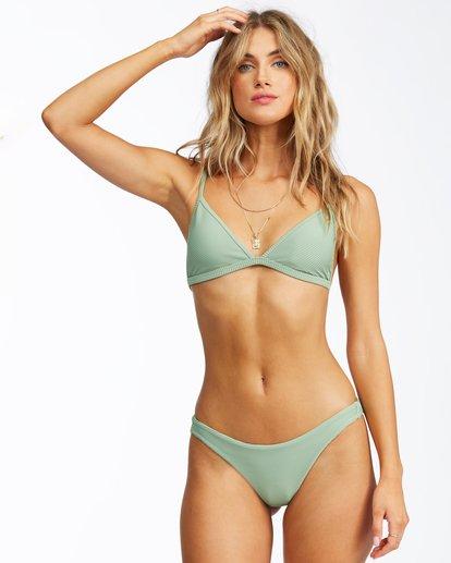 2 Tanlines Tanga Bikini Bottom Green ABJX400305 Billabong