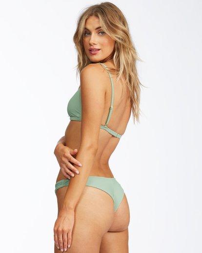 1 Tanlines Tanga Bikini Bottom Green ABJX400305 Billabong