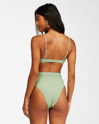 2 Tanlines Rise Bikini Bottom Green ABJX400306 Billabong