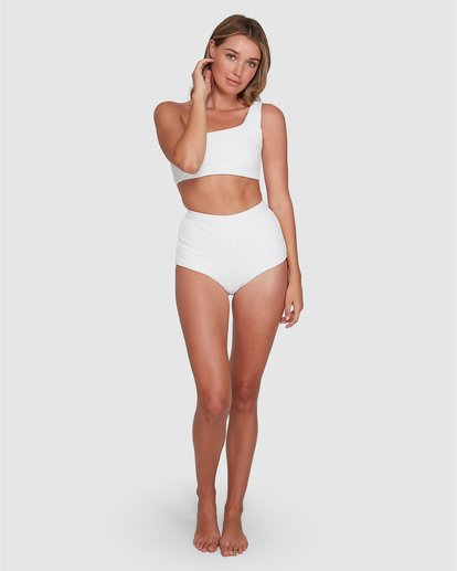 4 Tanlines Avalon Bikini Bottom White ABJX400348 Billabong