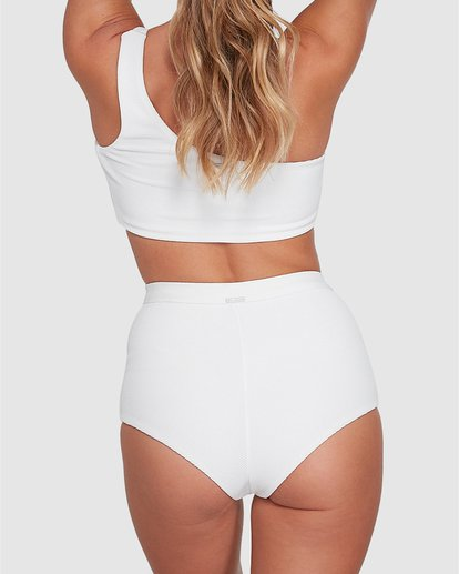 3 Tanlines Avalon Bikini Bottom White ABJX400348 Billabong