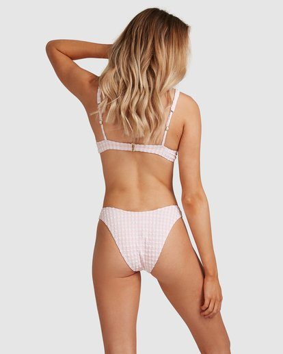 1 Wave Check Hike Bikini Bottom Pink ABJX400350 Billabong
