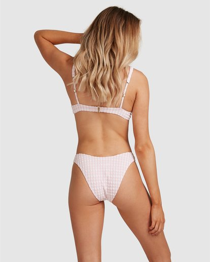 6 Wave Check Hike Bikini Bottom Pink ABJX400350 Billabong