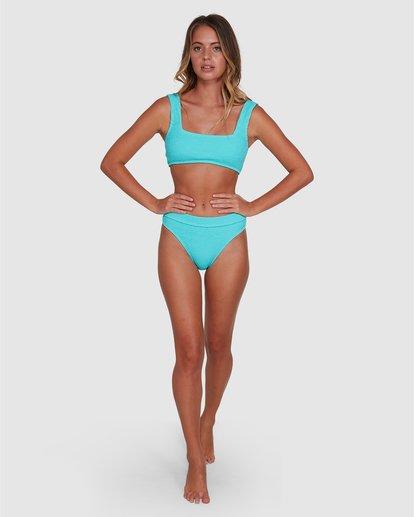4 Summer High Maui Rider Bikini Bottom Blue ABJX400358 Billabong