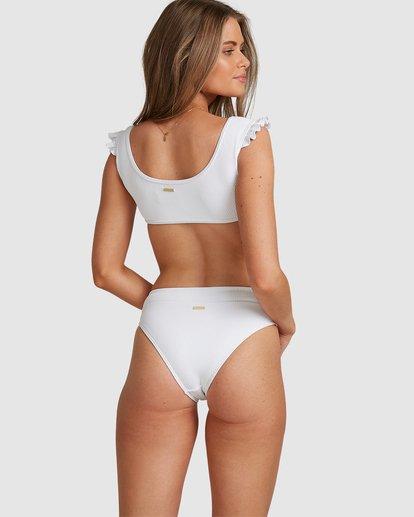 2 Beach Bliss Maui Rider Bikini Bottoms - Steph Claire Smith White ABJX400370 Billabong