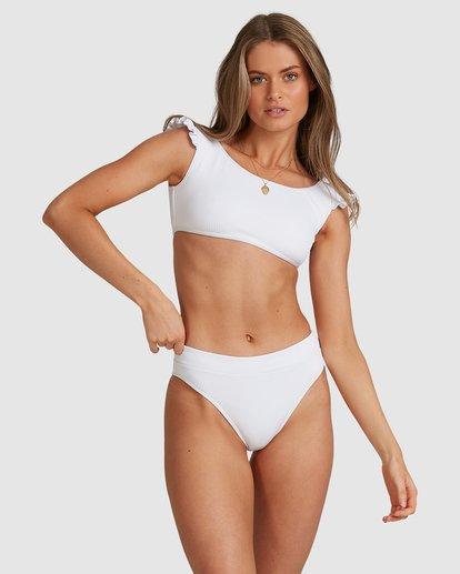 3 Beach Bliss Maui Rider Bikini Bottoms - Steph Claire Smith White ABJX400370 Billabong
