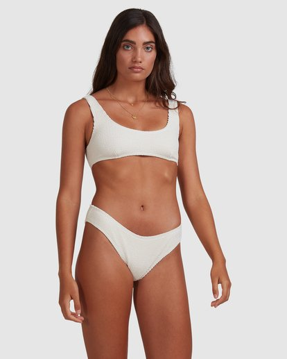 4 Summer High Bondi Bikini Bottom White ABJX400399 Billabong