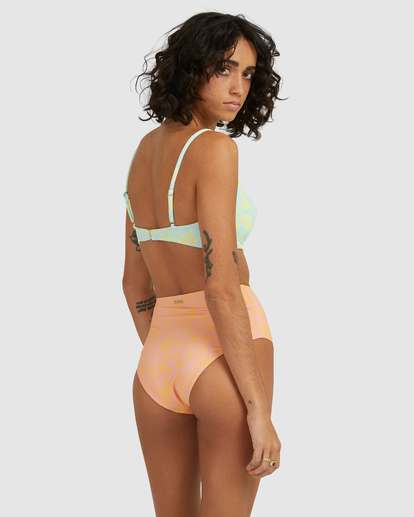 1 Hot Tropics Hi Retro Bikini Bottom Multicolor ABJX400506 Billabong