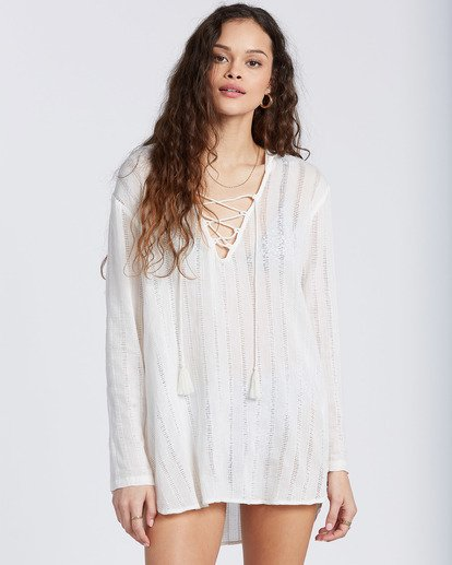 1 Same Story Beach Cover Up White ABJX600105 Billabong