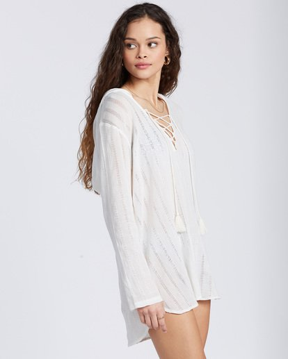 2 Same Story Beach Cover Up White ABJX600105 Billabong