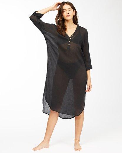 0 Summer Breeze Beach Cover-Up Midi Dress Black ABJX600152 Billabong